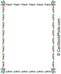 Christmas holly border frame background clip art.