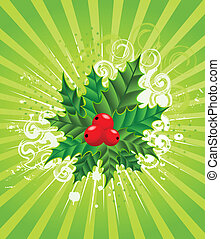Christmas holly decorate
