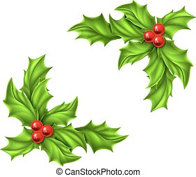 Christmas Holly Design - Christmas Holly and red berries...
