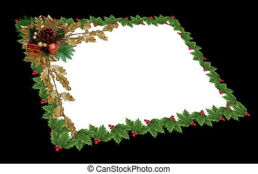 Christmas Holly gift card - Image and Illustration...