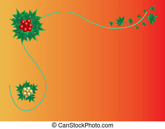 Christmas holly, place for text
