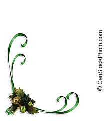 Christmas Holly Ribbons - Christmas design with holly leaves...