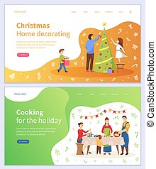 Christmas Home Decorating and Cooking for Holiday