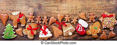 Christmas homemade gingerbread cookies