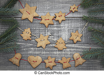 Christmas homemade gingerbread cookies