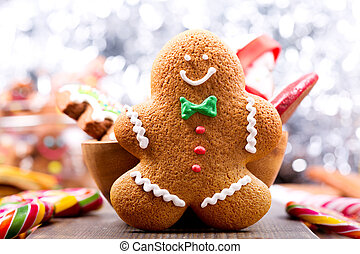 Christmas homemade gingerbread man
