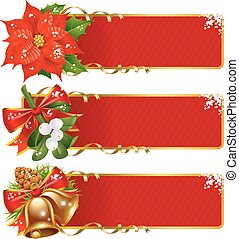 Christmas horizontal background set