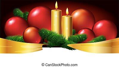 Christmas horizontal design