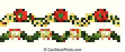 Christmas horizontal seamless background