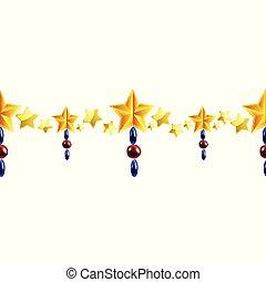 Christmas horizontal seamless border background