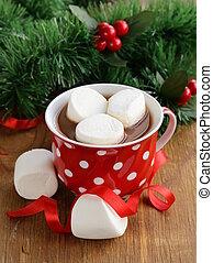 Christmas hot chocolate cocoa