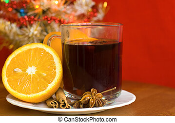 Christmas hot wine