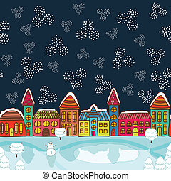 Christmas house background vector illustration