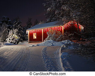 Christmas house  - Beautifully decorated Christmas house