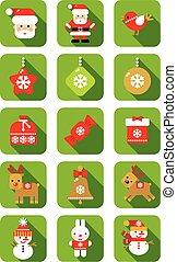 Christmas icon flat design.