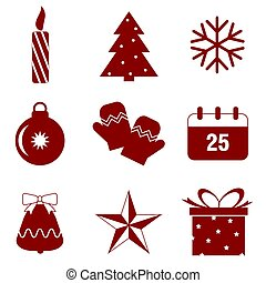 Christmas icon isolated on white background. Vector illustration