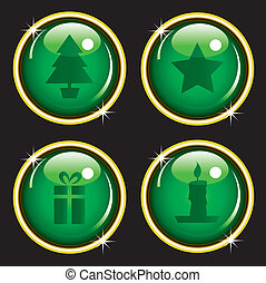 Christmas icon web buttons