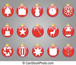 Christmas icons of the  balls
