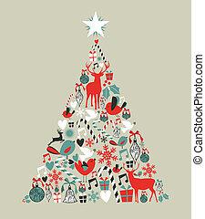 Christmas icons pine tree