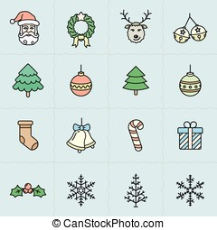 Christmas icons set - Simplus series