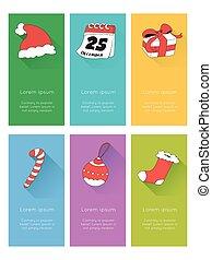 Christmas Icons set. Vector illustration.