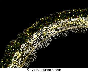 Christmas illumination at night