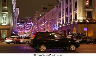 Christmas illumination in Moscow - Christmas and New Year...