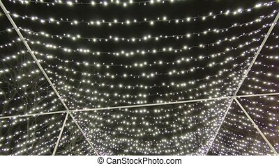 Christmas illumination on night sky background