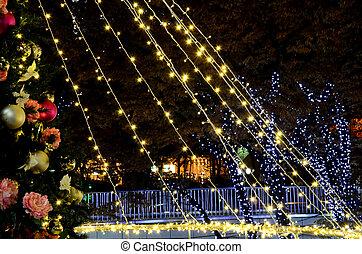 Christmas illuminations. Illumination of the city of the Christmas season.