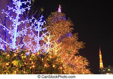 Christmas illuminations of Hamamatsucho