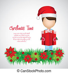 Christmas illustration of a child