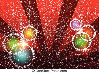 Christmas illustration the ball background