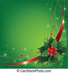 Vector illustration of an abstract Christmas composition