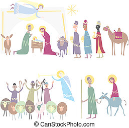 Christmas Illustration vector. Star of Bethlehem. Nativity