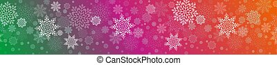 Christmas illustration with a set of graceful white snowflakes