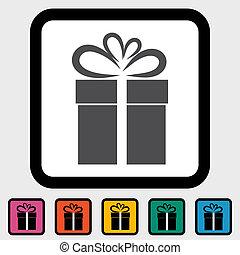 Christmas illustration with gift box 3.