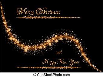 christmas illustration with glittering stars