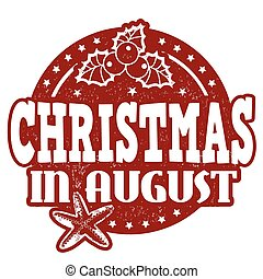 Christmas in august stamp