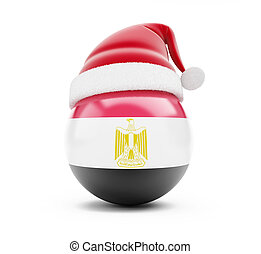 Christmas in Egypt on a white background