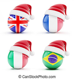 Christmas in England, Italy, Brazil, France