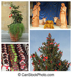 christmas in Florence - collage