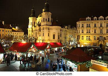 Christmas in Oldtown square in Prague