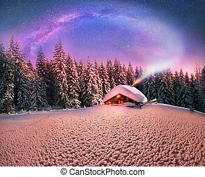 Christmas in the Carpathians - High, snow-capped peaks of ...