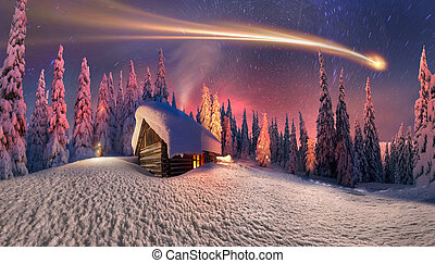 Christmas in the Carpathians - Shooting star like the ...