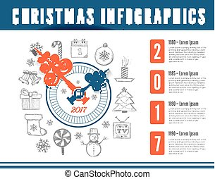 Christmas infographics vector illustration