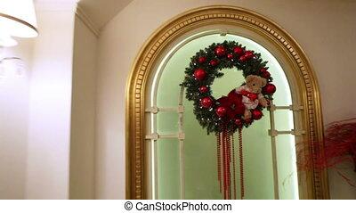 Christmas interior - Festively decorated hall posh...