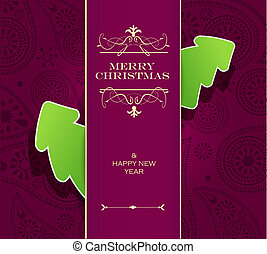 Christmas invitation card.