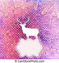 Christmas Invitation card template. EPS 8