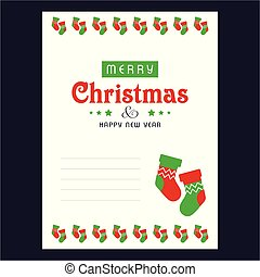 Christmas invitation card with socks