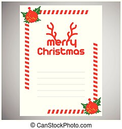 Christmas invitation envelope with frame